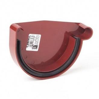 Заглушка ринви права Profil Р 90 мм червона