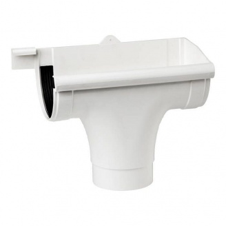 Лійка права Profil 90/75 мм біла