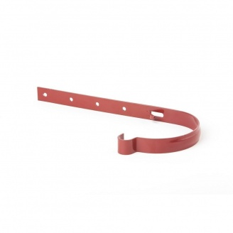 Держак ринви металевий Profil 130 мм червоний