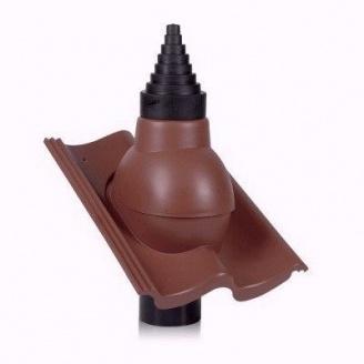 Антенный выход Wirplast Tile РА56-2 90 мм коричневый