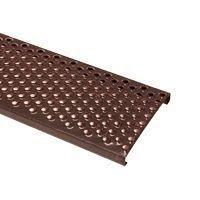 Решетка безопасности окрашенная Terran закаленная сталь 250х400 мм коричневая