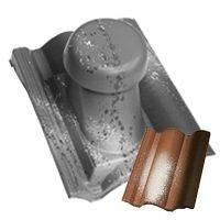 Круглый неутепленный вентиляционный элемент Terran Коппо 110 мм венеция