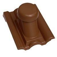 Круглий неутеплений вентиляційний елемент Terran Данубіа 110 мм коричневий