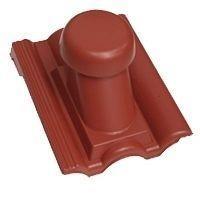 Круглый неутепленный вентиляционный элемент Terran Данубиа 110 мм бордо