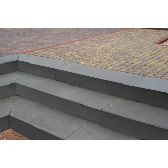 Ступень Золотой Мандарин на сером цементе 1000х150х350 мм