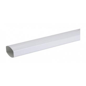 Труба водостічна Nicoll 28 OVATION 90х56 мм білий