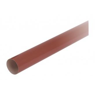 Труба водостічна з муфтою Nicoll 80 мм червоний