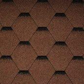 Битумная черепица Icopal Plano Optima 1000х317 мм коричневая