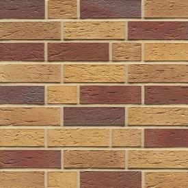 Клінкерна облицювальна цегла Muhr LI - NF 19 Rubin beige-nuanciert geflammt rustik 240x115x71 мм