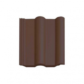 Цементно-песчаная черепица Vortex Двойная римская рядовая 330*420 мм темно-коричневая матовая
