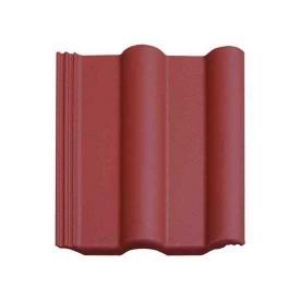 Цементно-песчаная черепица Vortex Двойная римская рядовая 330*420 мм красная глянцевая