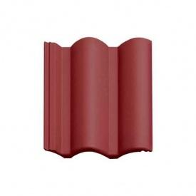 Цементно-песчаная черепица Vortex Венецианская рядовая 330*420 мм красная глянцевая