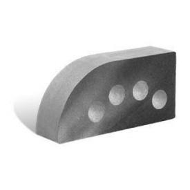 Облицювальна цегла Літос Фасонна Півколо Гладка пустотіла 250x120x65 мм сірий