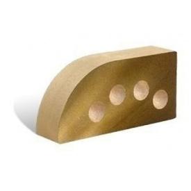 Облицовочный кирпич Литос Фасонный Полукруг Гладкий пустотелый 250x120x65 мм желтый