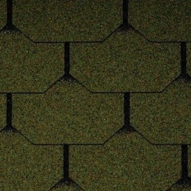 Бітумна черепиця Icopal Plano Nova 1000х333 мм зелений ліс