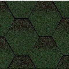 Бітумна черепиця Kerabit K Трійка зелено-чорний
