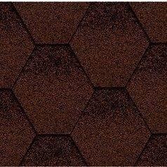 Бітумна черепиця Kerabit K Трійка коричнево-чорна