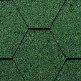 Битумная черепица Kerabit K Тройка однотонная зеленая