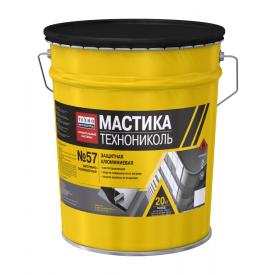 Мастика защитная ТехноНИКОЛЬ №57 алюминиевая 20 кг