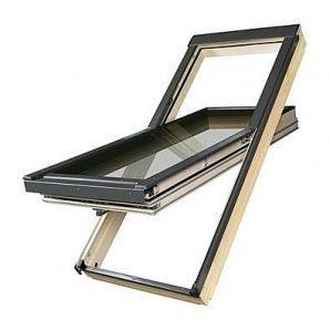 Мансардне вікно FAKRO FTT U6 обертальне суперенергозберігаюче 55x98 см