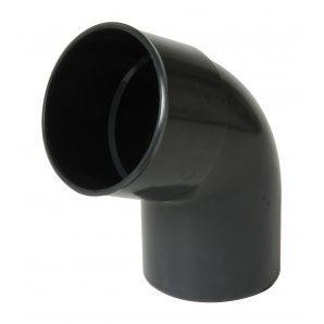 Отвод одномуфтовый Nicoll 67° темно-серый