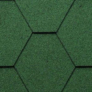 Бітумна черепиця Kerabit K Трійка однотонна зелена