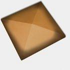 Оголовок для огорожі CRH 95 мм помаранчевий ангобованний