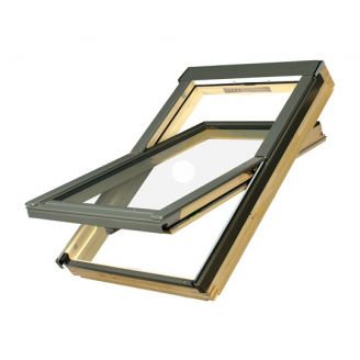 Мансардное окно FAKRO FTP-V U3 Electro вращательное с электроуправлением 66x98 см