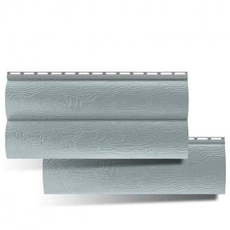 Акриловый сайдинг Альта-Профиль BlockHouse двухпереломный серебристый