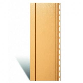 Вертикальный виниловый сайдинг Альта-Профиль Quadrohouse золотистый