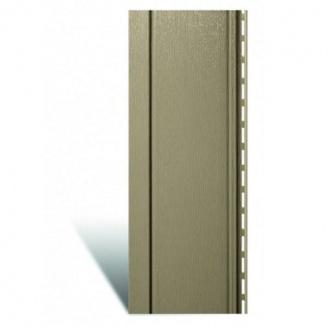 Вертикальный виниловый сайдинг Альта-Профиль Quadrohouse темно-бежевый