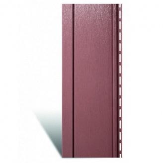 Вертикальный сайдинг Альта-Профиль Quadrohouse красно-коричневый