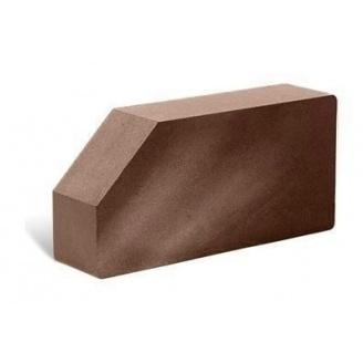 Облицовочный кирпич Литос Гладкий угловой полнотелый 250x120x65 мм шоколад