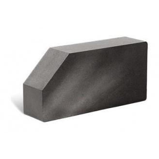 Облицовочный кирпич Литос Гладкий угловой полнотелый 250x120x65 мм серый