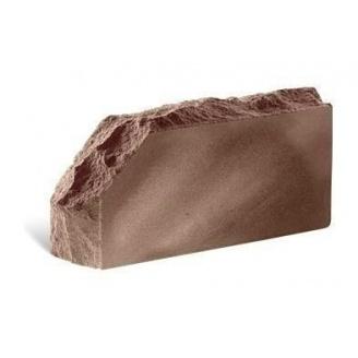 Облицовочный кирпич Литос Скала угловой тычковой полнотелый 230x100x65 мм шоколад