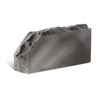Облицовочный кирпич Литос Скала угловой тычковой полнотелый 230x100x65 мм серый