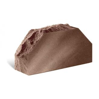 Облицовочный кирпич Литос Скала 2-х угловой полнотелый 250x100x65 мм шоколад