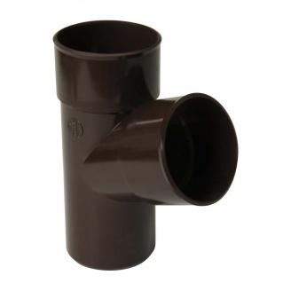 Трійник 67° Nicoll 25 ПРЕМІУМ 80 мм коричневий