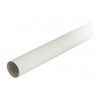 Труба водостічна з муфтою Nicoll 80 мм білий