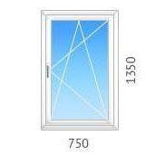 Окно поворотно-откидное OPENTECK с однокамерным стеклопакетом