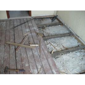 Демонтаж дерев'яних підлог