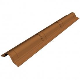 Гребінь верхній Onduvilla 900x485 мм коричневий 3D