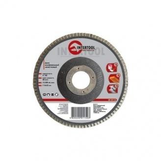 Диск шлифовальный Intertool лепестковый 22х115 мм К36 (BT-0103)
