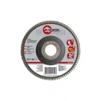 Диск шлифовальный Intertool лепестковый 22х115 мм К80 (BT-0108)