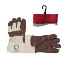Перчатки кожаные Intertool утепленные (SP-0013)