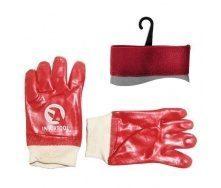 Перчатки маслостойкие Intertool красные (SP-0006)