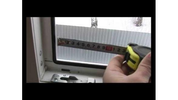 Замір прорізу вікна для москітної сітки