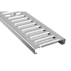 Решетка стальная оцинкованная для водостока 126х1000х20 мм серая