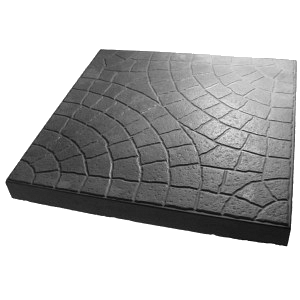 Плитка тротуарная Сегмент 300х300х30 мм серая