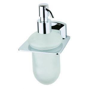 Стеклянный дозатор жидкого мыла DEVIT Country с настенным держателем хром (8350125SD)